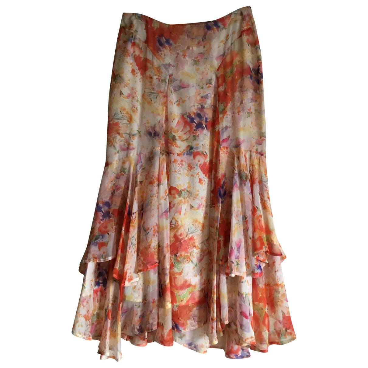 Nicole Farhi - Jupe   pour femme en soie - multicolore