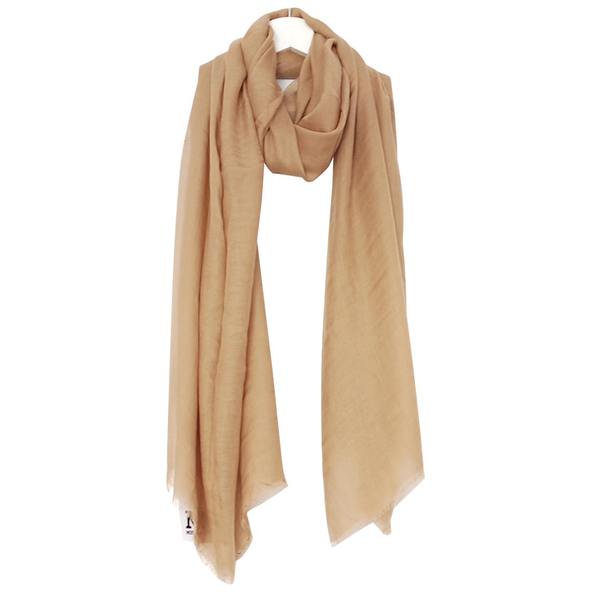 M Missoni - Foulard   pour femme en cachemire - beige