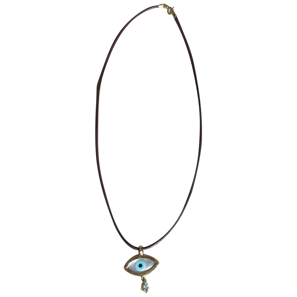 Non Signé / Unsigned Motifs Religieux Blue Yellow gold necklace for Women \N