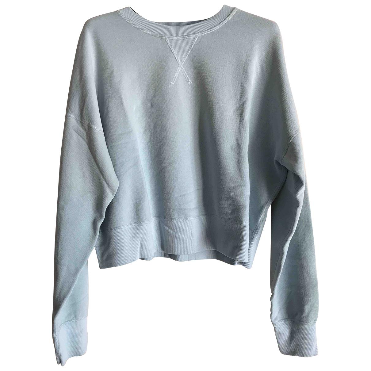 Re/done - Pull   pour femme en coton - bleu