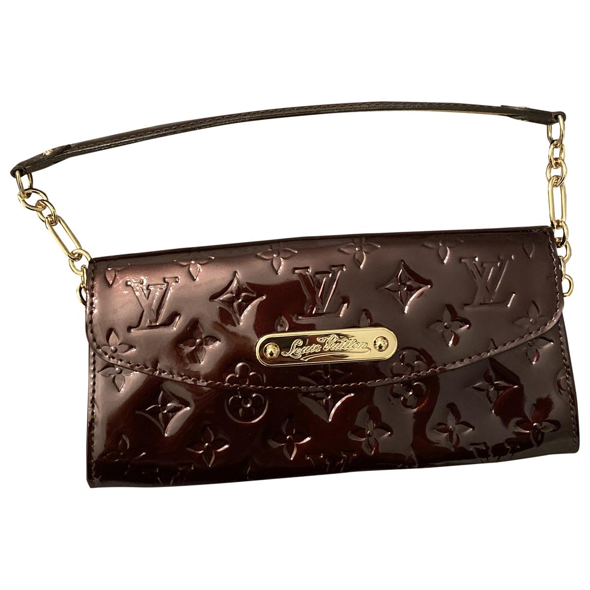 Louis Vuitton \N Burgundy Patent leather handbag for Women \N