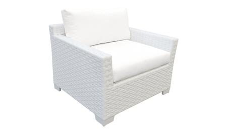 Monaco Collection TKC017b-CC-WHITE Monaco Club Chair - 2 Sets of Sail White