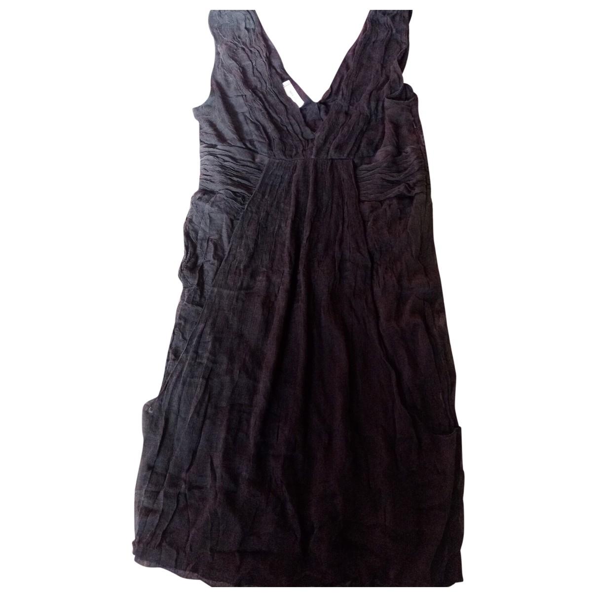 Mangano \N Kleid in  Schwarz Seide