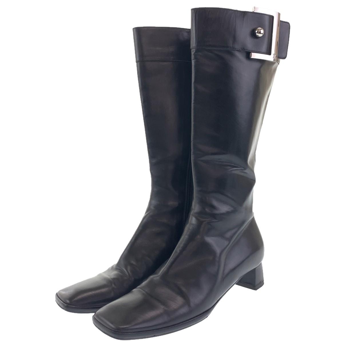 Louis Vuitton - Bottes   pour femme en cuir