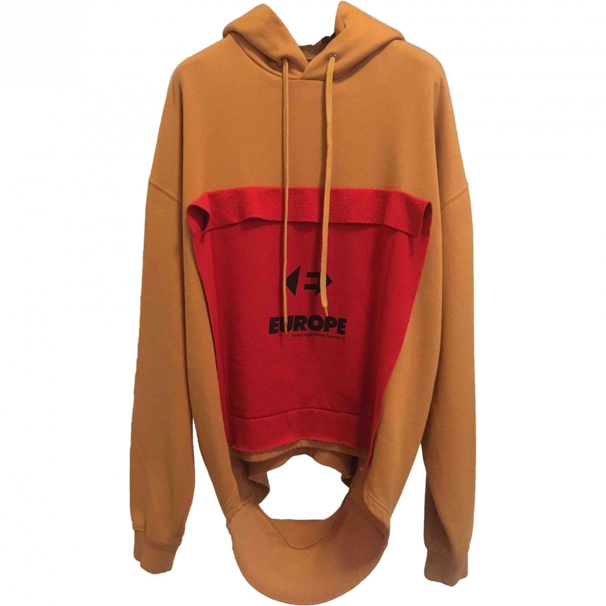 Balenciaga \N Pullover.Westen.Sweatshirts  in  Orange Baumwolle