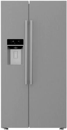 BSBS2230SS 36 Counter Depth Side-by-Side Refrigerator with 19.32 cu. ft. Capacity  Blue Light Technology  Hygiene+  HygAir  Ice and Water Dispenser: