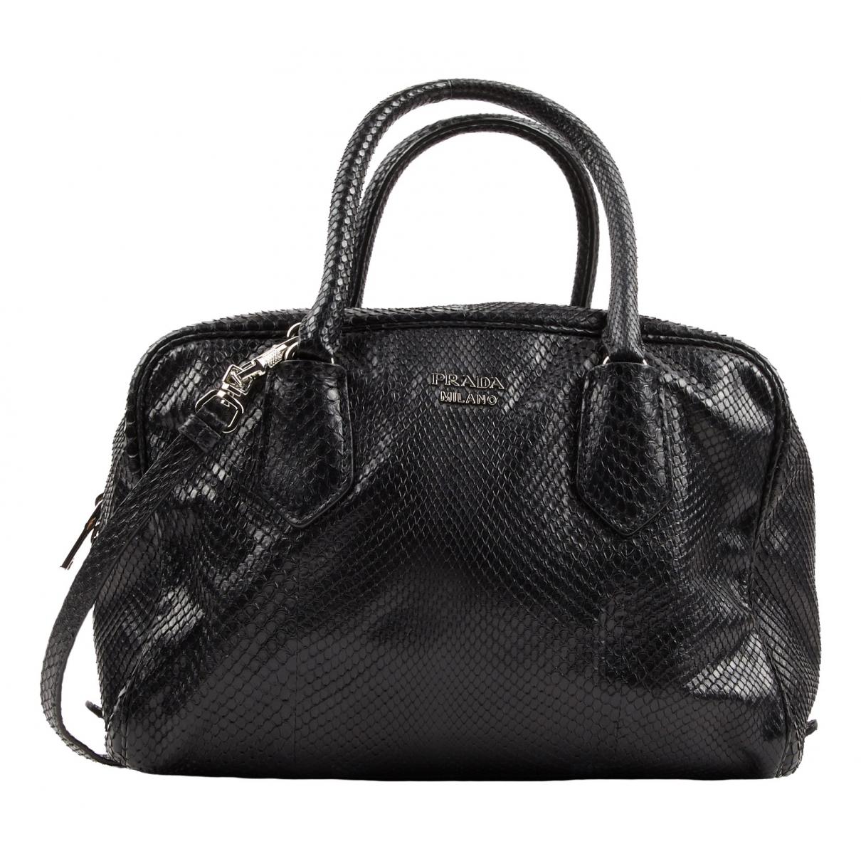 Prada \N Black Python handbag for Women \N