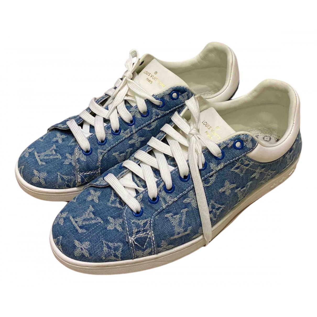 Louis Vuitton \N Sneakers in  Blau Leinen