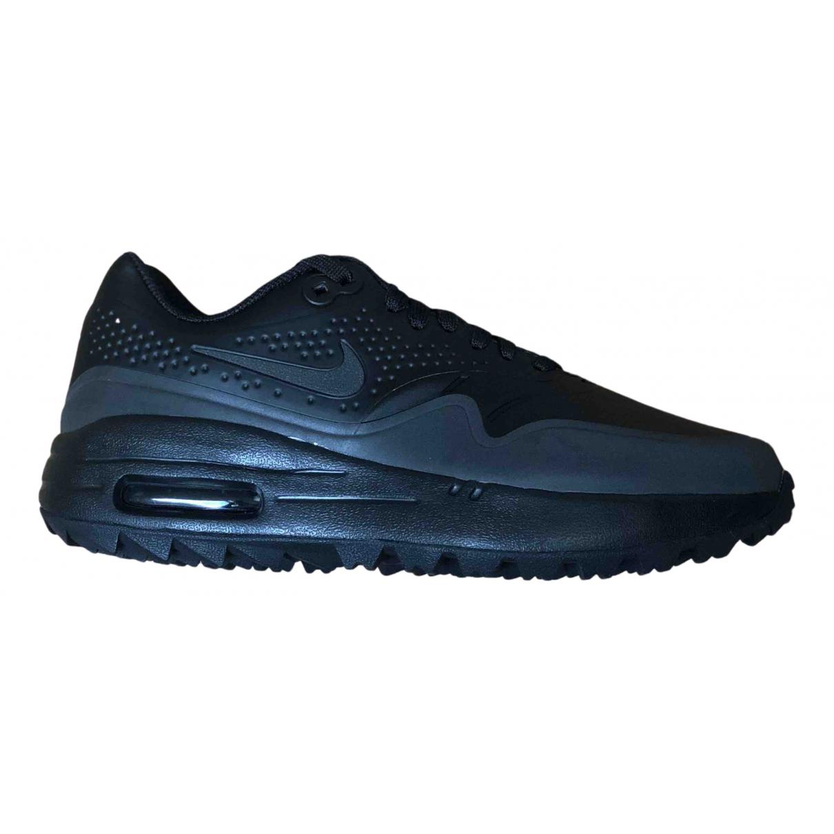 Nike - Baskets Air Max 1 pour femme en cuir - noir