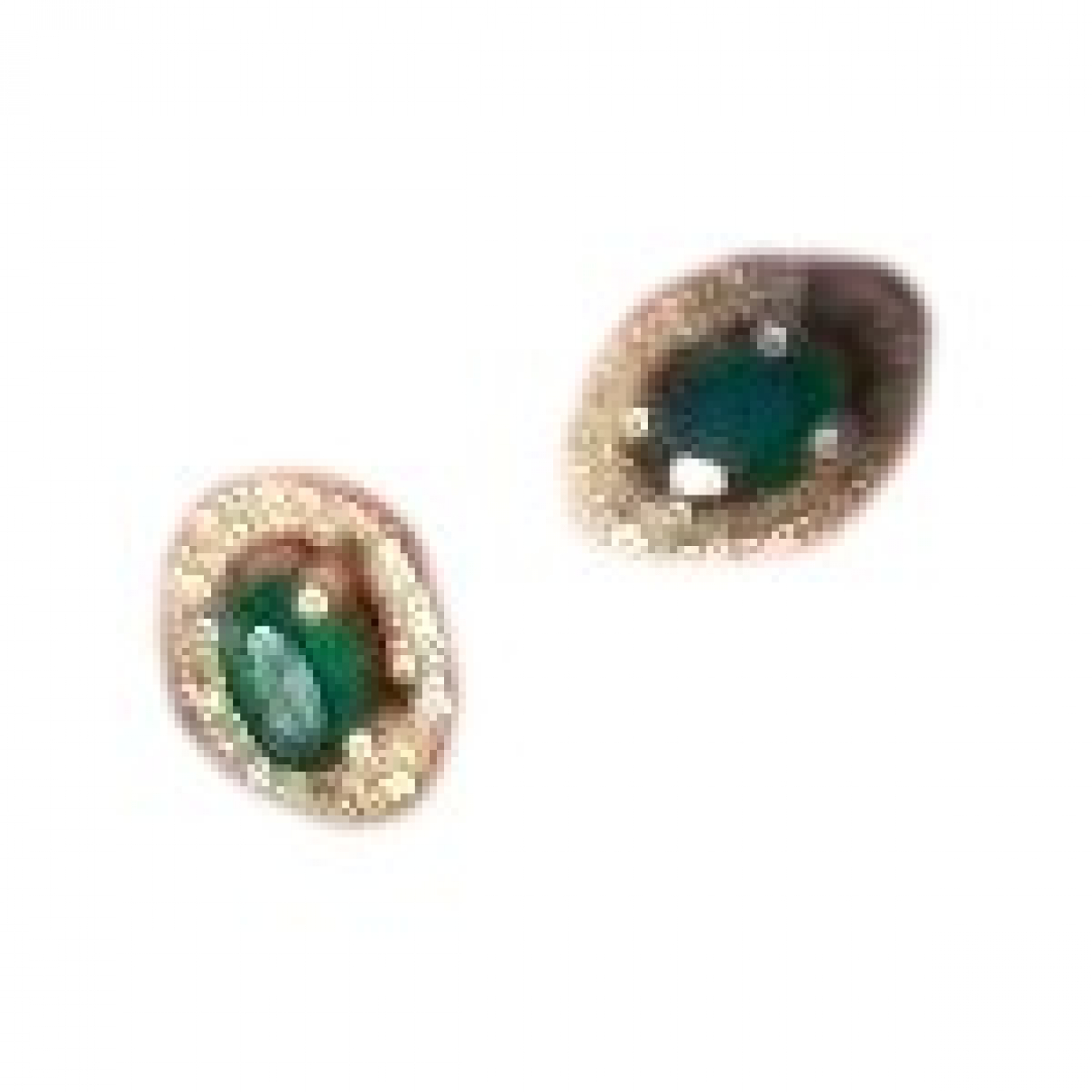 Non Signé / Unsigned \N Green White gold Earrings for Women \N