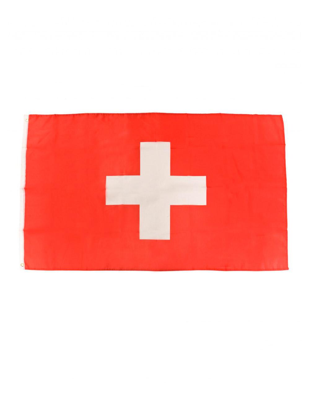 Flagge Schweiz 90x60cm Farbe: rot/weiss