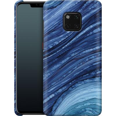 Huawei Mate 20 Pro Smartphone Huelle - Blue Agate Crystal Slice von Becky Starsmore