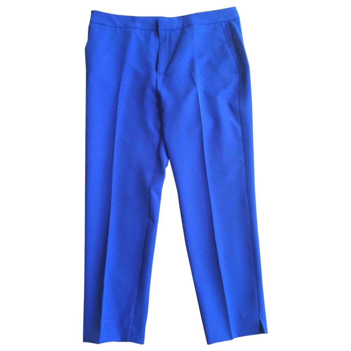 Zara \N Turquoise Trousers for Women 44 IT