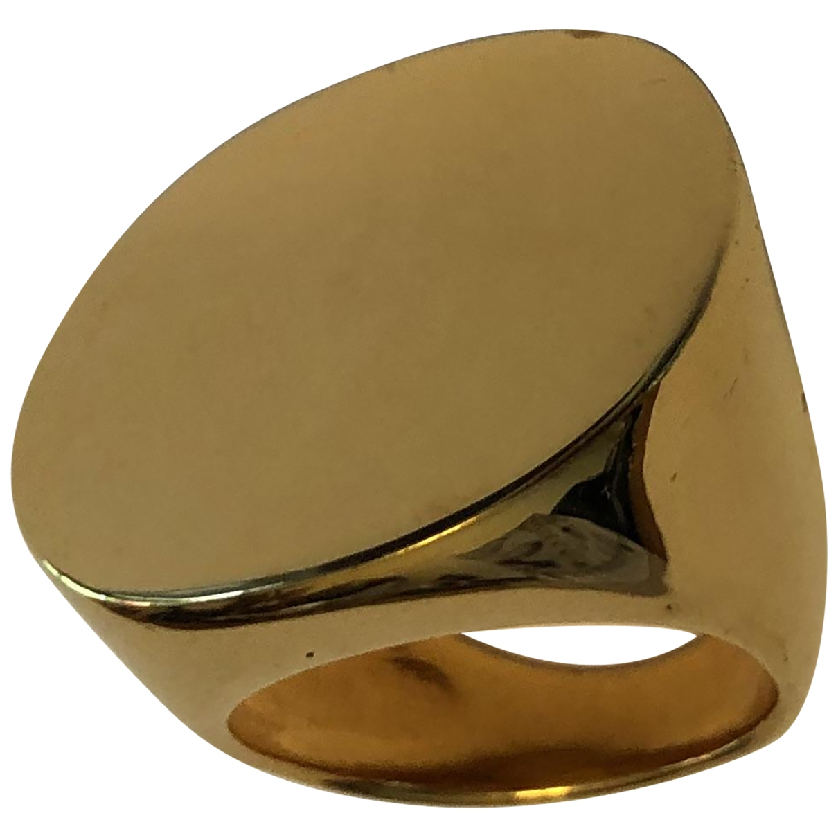 Non Signe / Unsigned Chevalieres Ring in  Gold Vergoldet