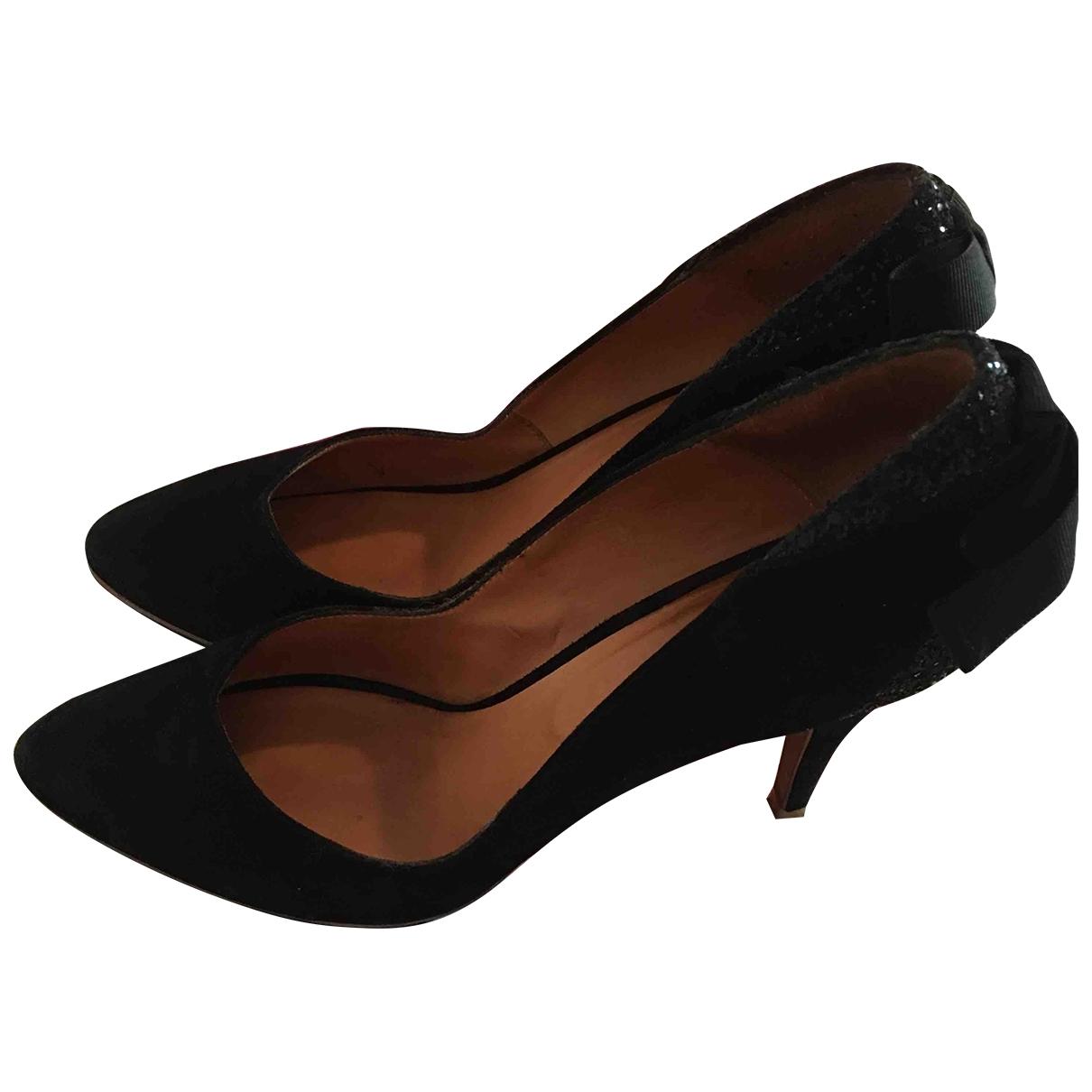 Sézane \N Black Suede Heels for Women 40 EU