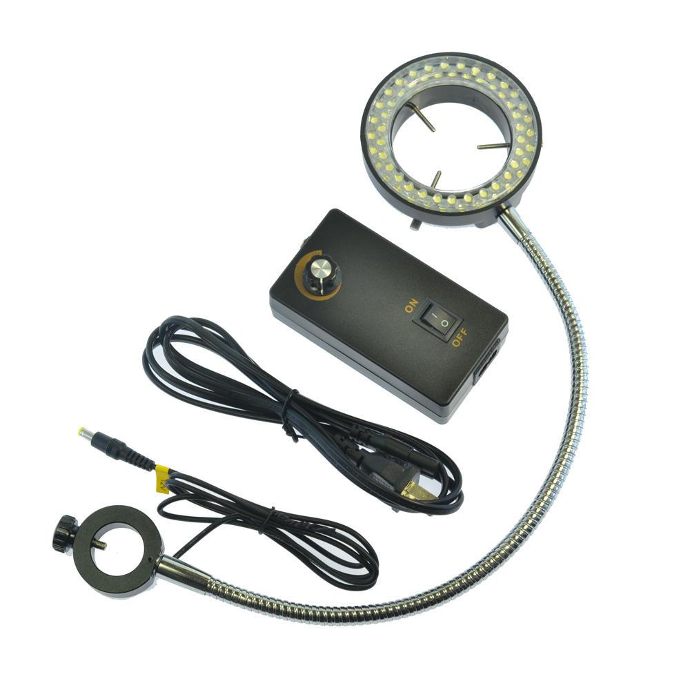 HAYEAR 60 LED Adjustable Ring Light Side Light Microscopes Illuminator Lamp For Industry Microscope Industrial Camera
