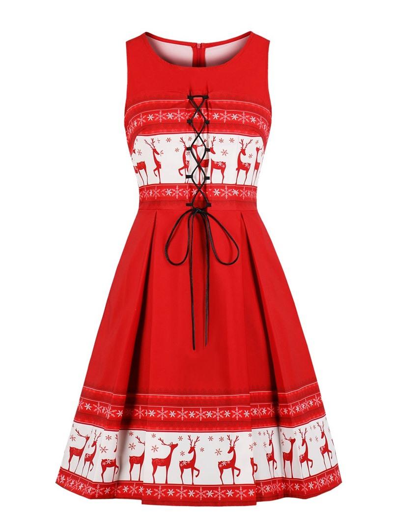 Ericdress Scoop Neck Zipper-Up A Line Cocktail Dress