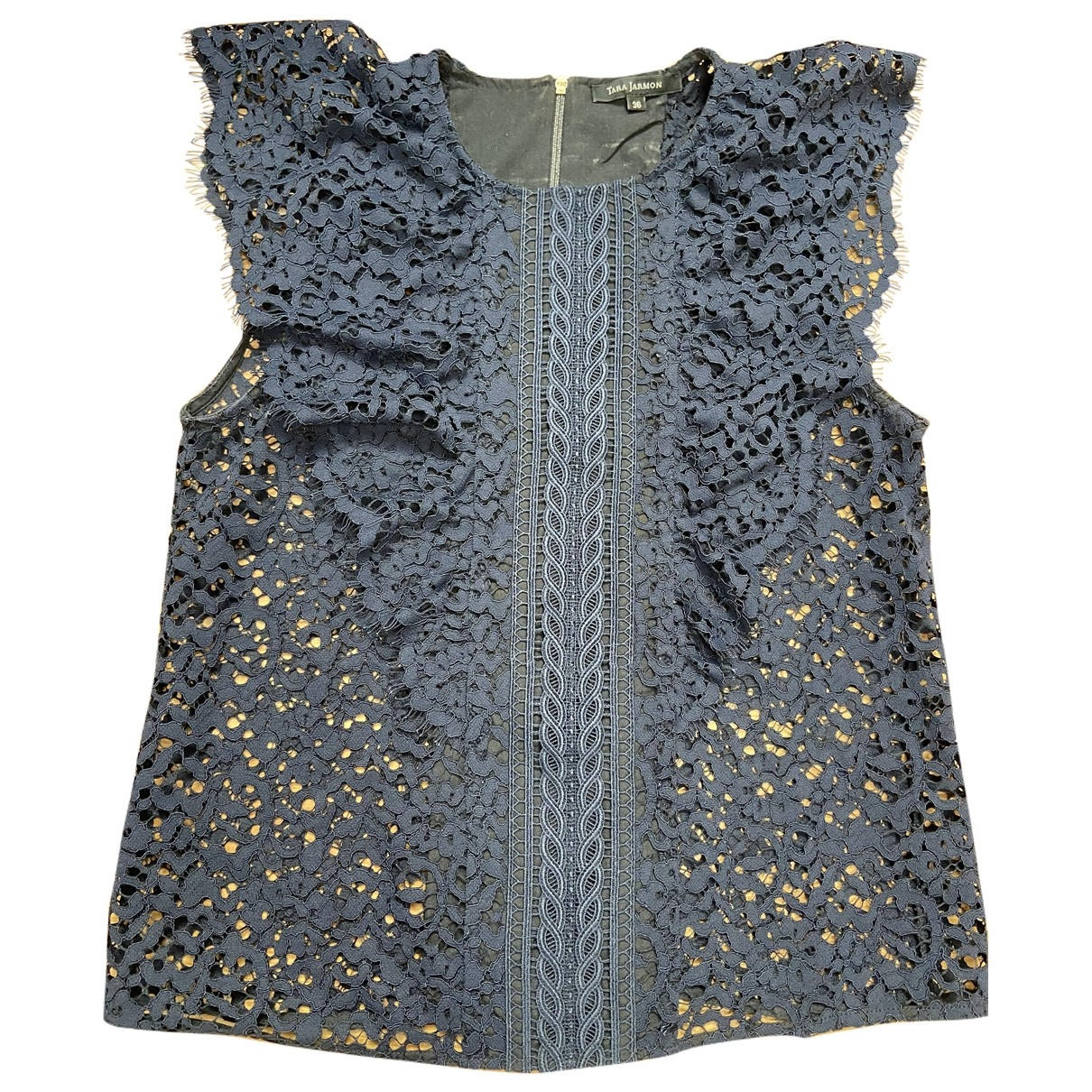 Tara Jarmon \N Blue Lace  top for Women 36 FR