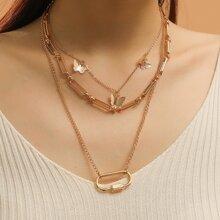 Halskette mit Schmetterling Anhaenger