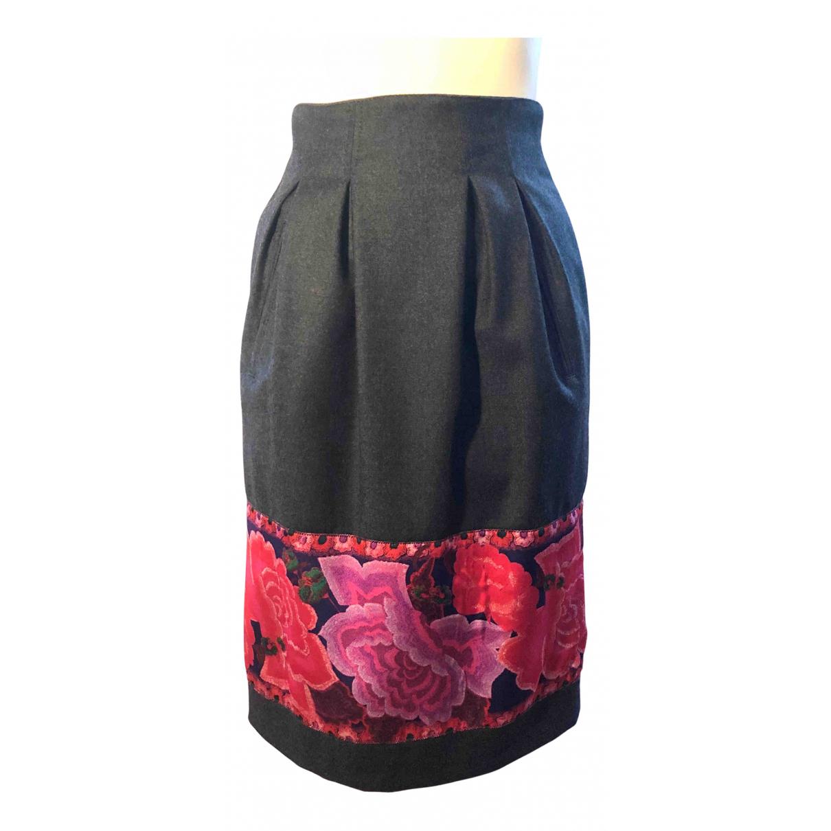 Roberto Cavalli N Grey Wool skirt for Women 40 IT