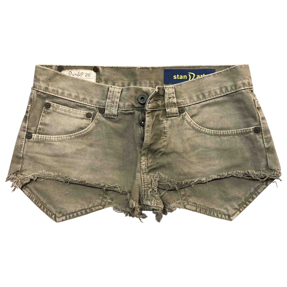Dondup \N Green Denim - Jeans Shorts for Women 38 IT