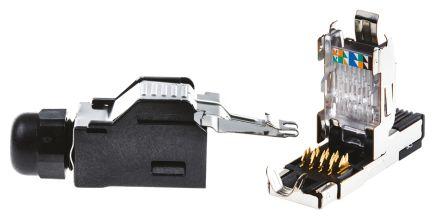 TE Connectivity IE RJ45 modular plug kit,IP20,8 position