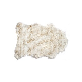 GORDON Faux Sheepskin Rug (2 x 3 - Gradient/Tan)