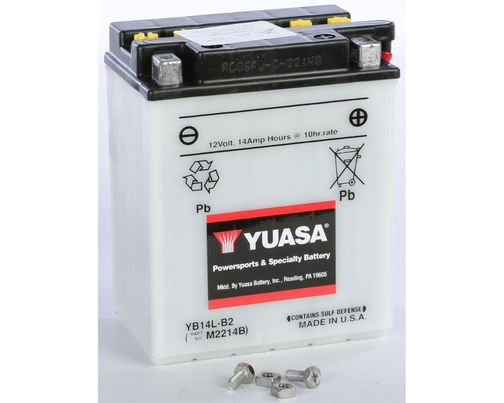 Yuasa YUAM2214B Conventional YB14L-B2 Battery