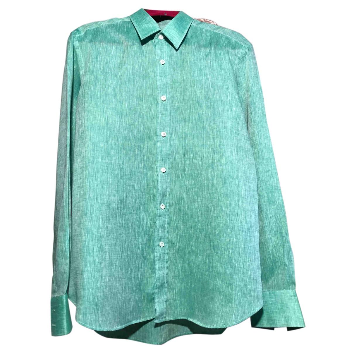 Malo - Chemises   pour homme en lin - vert