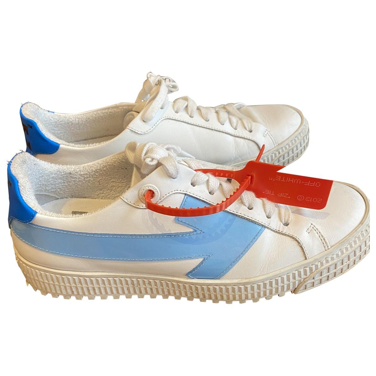 Off-white Arrow Sneakers in  Weiss Leder