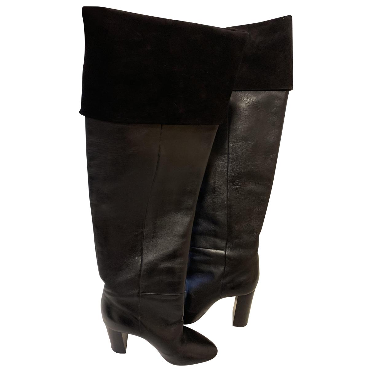 Saint Laurent - Bottes   pour femme en cuir - noir