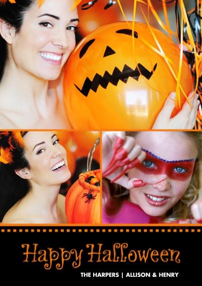 Halloween Photo Cards 5x7 Cards, Standard Cardstock 85lb, Card & Stationery -Sending Love Mini Heart