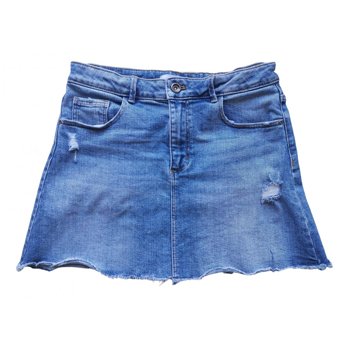 Zara - Jupe   pour enfant en denim - bleu