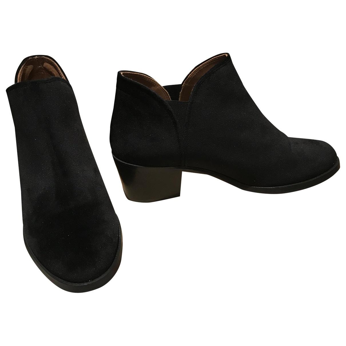 Castaner - Boots   pour femme en velours - noir