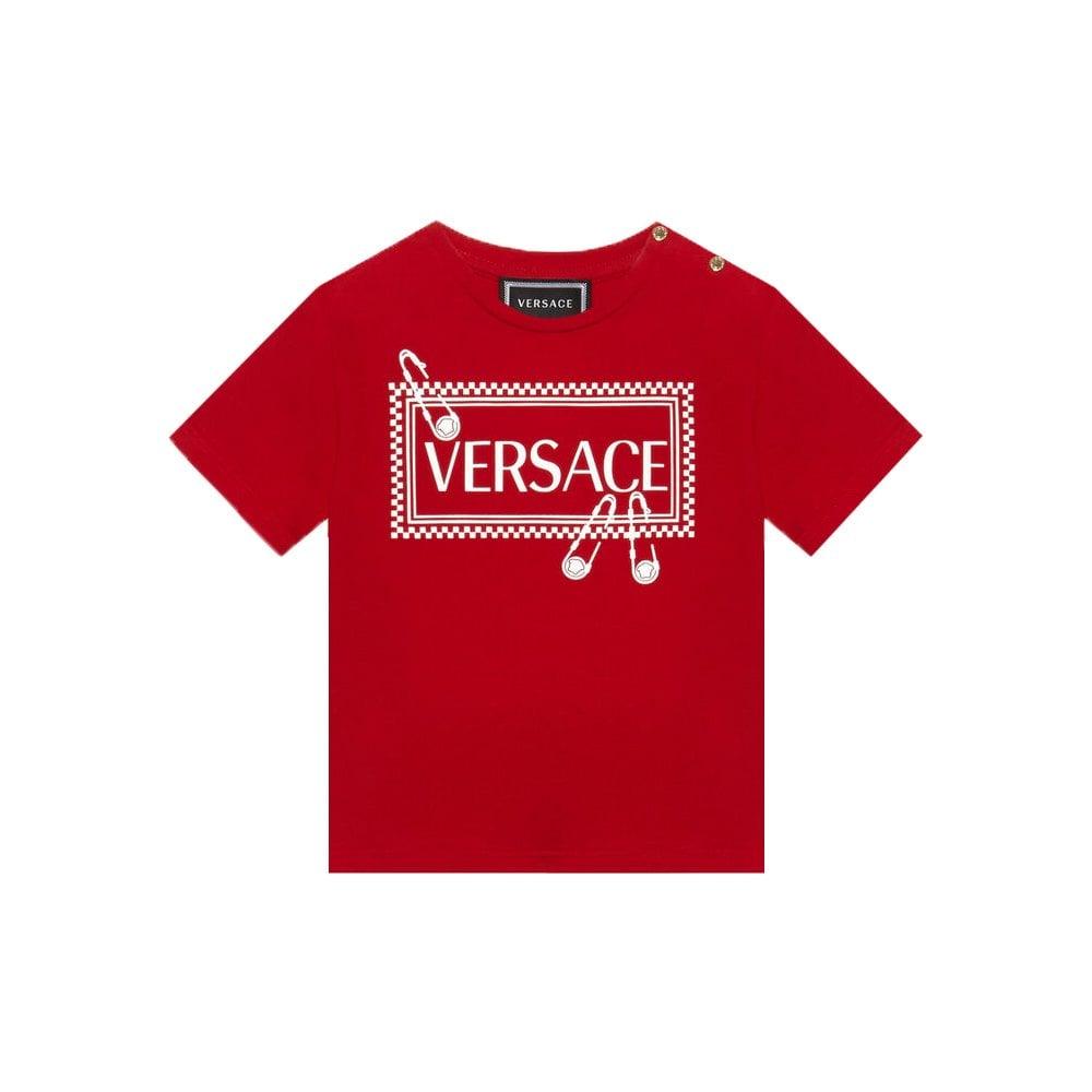 Versace Cotton T-shirt Colour: RED, Size: 18/24