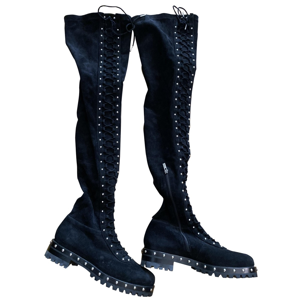 Le Silla \N Black Suede Boots for Women 41 EU