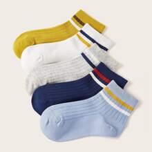 Kleinkind Jungen Socken mit Farbblock 5 Paare
