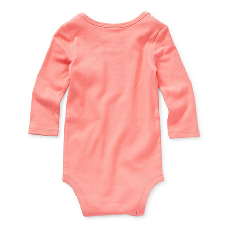 Okie Dokie Baby Girls Bodysuit, Newborn , Pink
