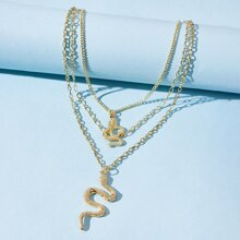 Snake Layered Chain Necklace