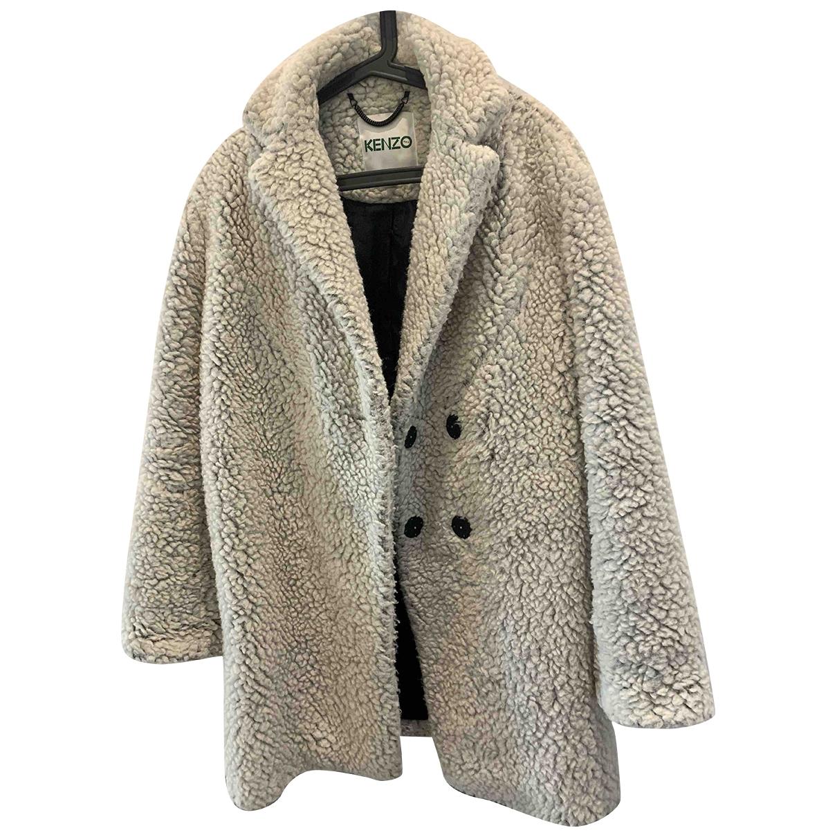 Kenzo \N Ecru Faux fur coat for Women 34 FR