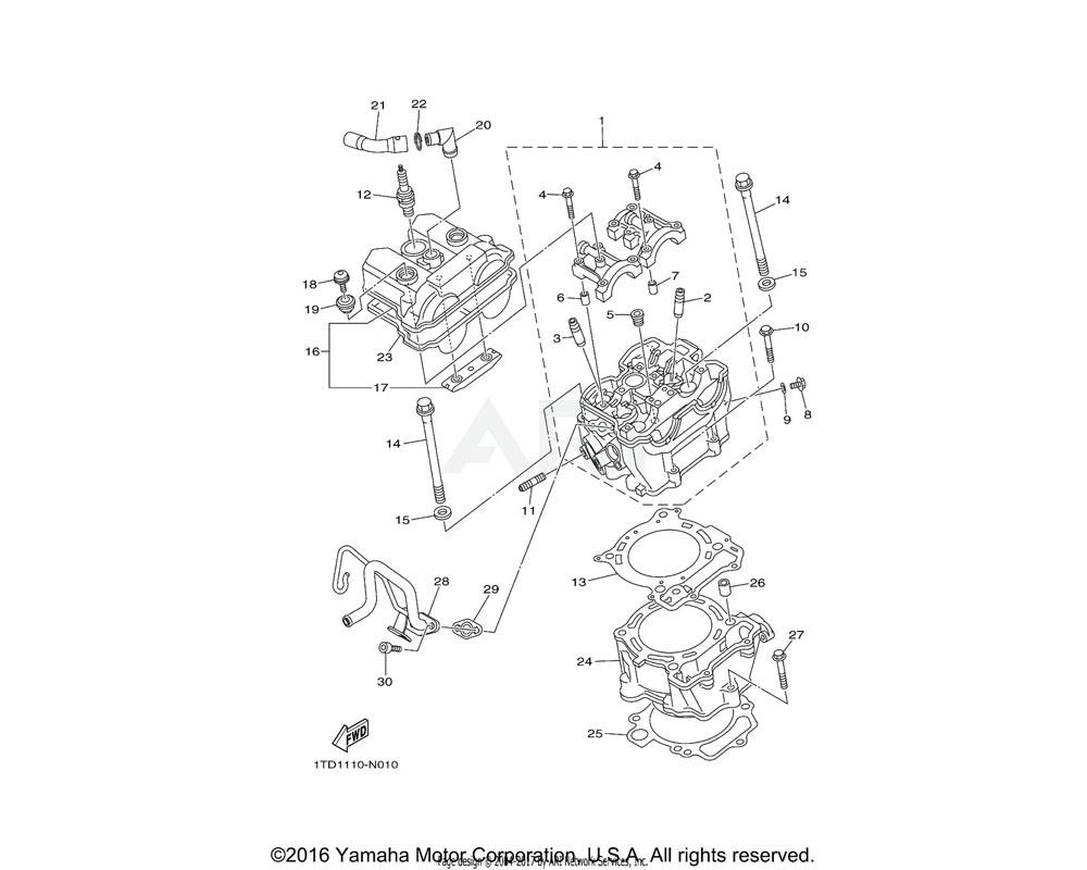 Yamaha OEM 2S2-11311-30-00 CYLINDER 1