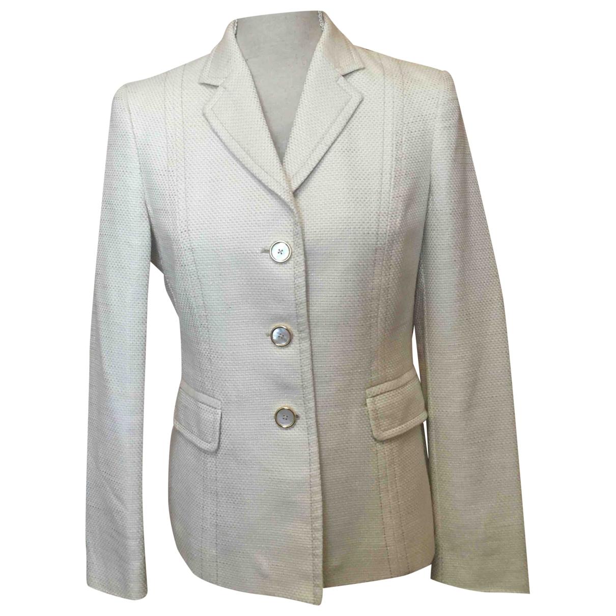 Non Signé / Unsigned \N Beige Cotton jacket for Women 40 FR