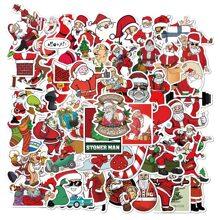 50pcs Christmas Santa Claus Sticker