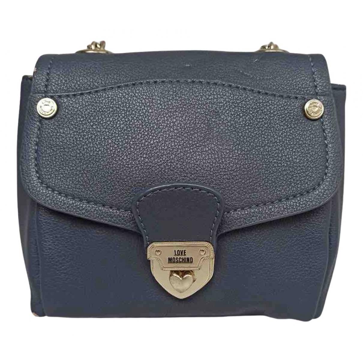 Moschino Love N Navy Leather handbag for Women N