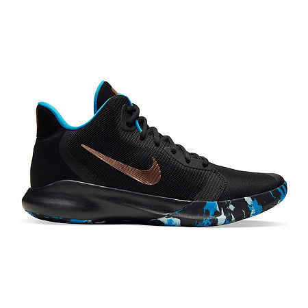 Nike Precision III Mens Basketball Shoes, 11 1/2 Medium, Black