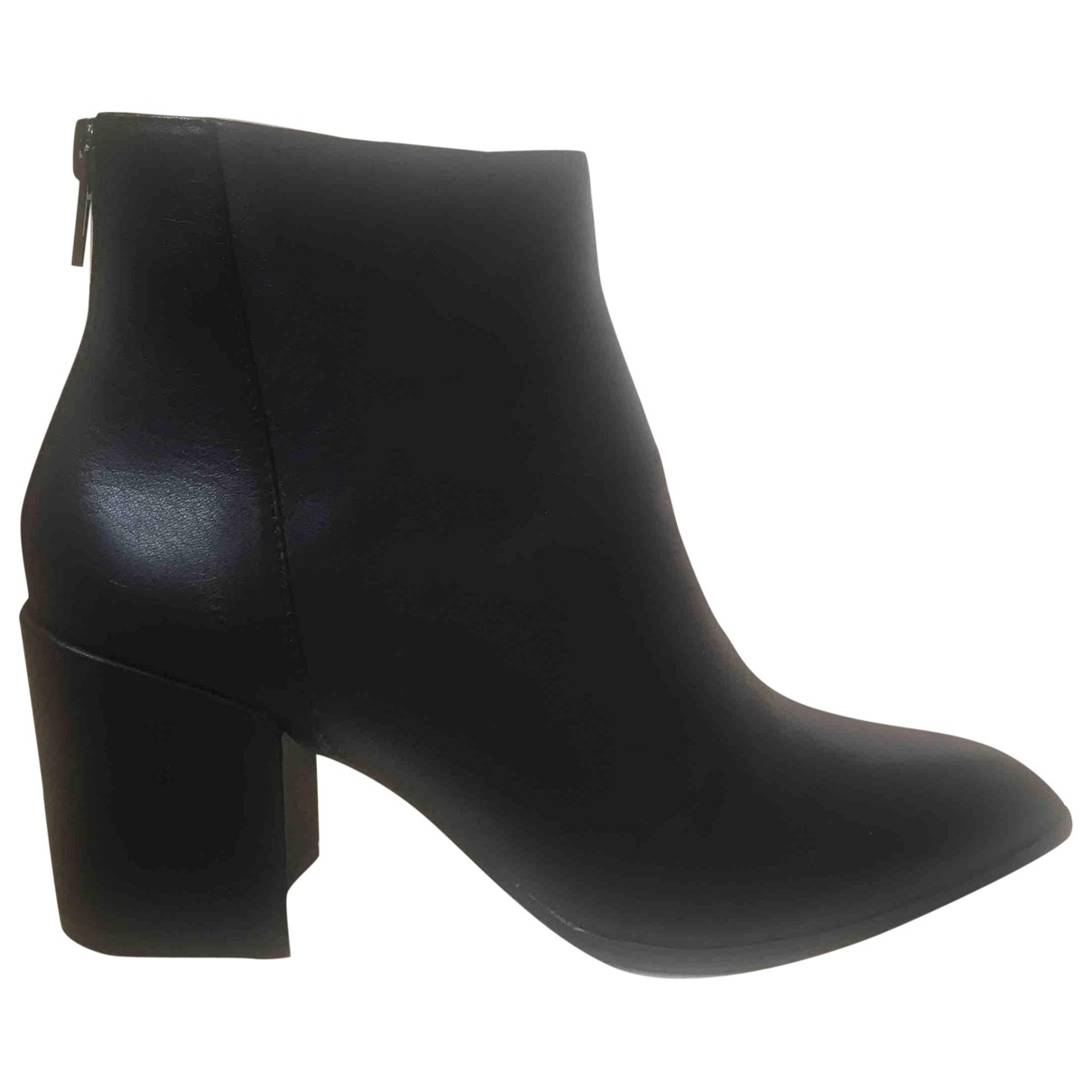 Steve Madden \N Black Leather Ankle boots for Women 39 EU