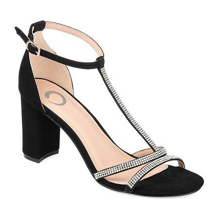 Journee Collection Womens Denali Pumps Block Heel, 8 Medium, Black
