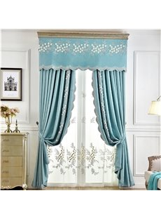 American Light Luxurious Pastoral Style Embroidered Excellent Custom Sheer Curtain