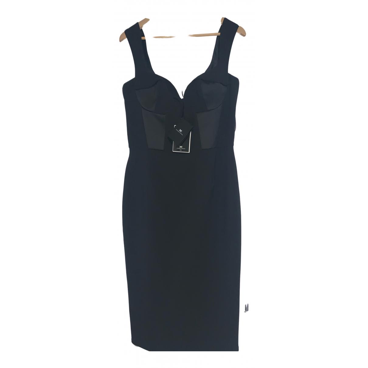 Elisabetta Franchi \N Kleid in  Schwarz Baumwolle