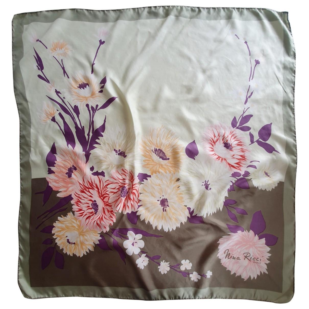 Nina Ricci - Carre   pour femme en soie - multicolore